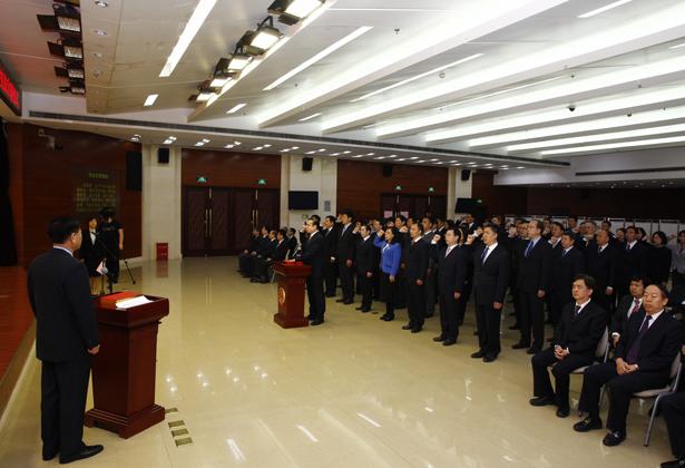 人社部举行司处级国家工作人员宪法宣誓仪式